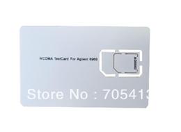 2019 мобильный телефон с размерами карты Wholesale-3G Mobile Phone Test Card Sim Card for Agilent 8960 , WCDMA Test Card, Small Size, Micro Sim дешево мобильный телефон с размерами карты