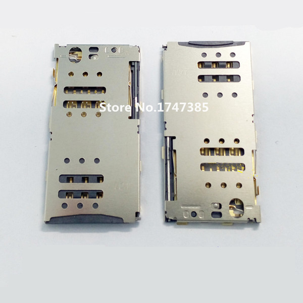 Wholesale-2pcs/lot Original SIM card slot reader connector holder socket contact for MEIZU note M2 M463M/C/U slot tray module Free ship