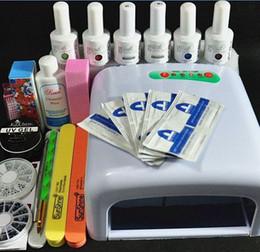 Wholesale Diy Lamp Kit - Wholesale-Nail Art Pro DIY Full Set Soak Off Uv Gel Polish Manicure set 36W Curing Lamp Kit Set nail gel nail tools