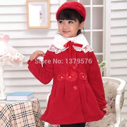 Wholesale Hot Sale Preferred - Wholesale-ango Christmas preferred 2015 Hot sale girls red blends autumn blends winter Cashmere outerwear children warm woolen overcoat
