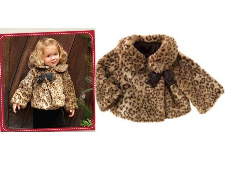 Wholesale Girls Leopard Coat Faux Fur Autumn/Winter Clothes Kids ...