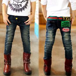 Wholesale Children Clothing Size 12 - Wholesale-2015 size 3T-14 children spring winter full jeans big boys clothes pants kids clothing denim boy jeans customize