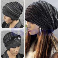 Atacado-N94 New Unissex Mens Womens Knit Baggy Beanie Beret Hat Inverno Quente Cap Ski Oversized