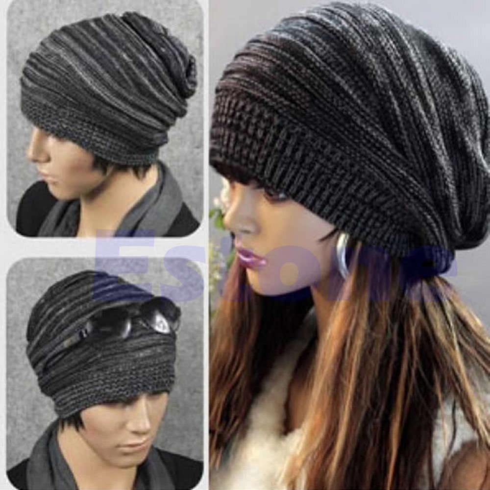 Toptan-N94 Yeni Unisex Mens Womens Örgü Baggy Bere Bere Şapka Kış Sıcak Boy Kayak Kap