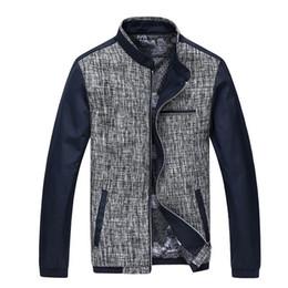 Wholesale Korean Urban Jacket - Fall-Patchwork Design Men Casual Silm Coats Big Size M-3XL New Arrival Korean Style Good Quality Urban Men Fashion Jackets
