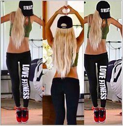 Wholesale Women S Breeches - Wholesale-YOGA pants & capris Running sport fitness calca discoteca trousers Fitness breeches women's clothing plus size contrast