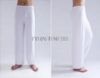 tai chi xxl roupas venda por atacado-Atacado-Yoga Pants Vestuário de Fitness para as mulheres homens Leggings e Ginásio de Esportes Exercício Wushu Tai Chi XXL Calças Branca Azul Roupas