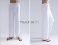 Wholesale Tai Chi Clothing For Women - Wholesale-Yoga Pants Fitness Clothing For Women & Men Leggings and Sports Gym Exercise Wushu Tai Chi XXL Pants White Blue Clothes
