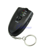 Wholesale Tester Leads - Wholesale-N94 New Breathalyzer Keychain Led Breath Alcohol Tester With Flashlight