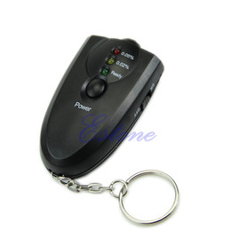 Wholesale Breath Keychain - Wholesale-N94 New Breathalyzer Keychain Led Breath Alcohol Tester With Flashlight