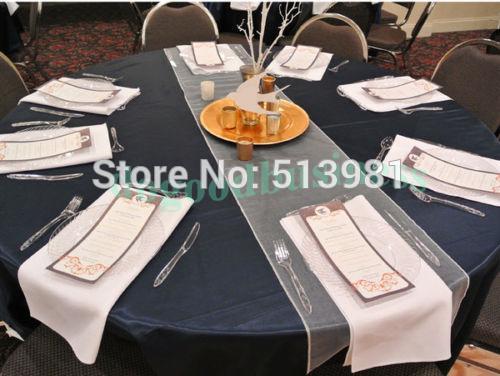 "Wholesale-12""x108"" / 30*275cm 50pcs High Quality burgundy Organza Table Runner for Wedding decoration Banquet Venue Decoration"