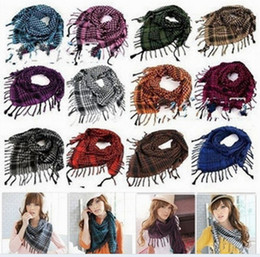 Wholesale Arab Palestine Scarf Kafiya - Wholesale-FREE SHIPPING new Hot Fashion Women Men Unisex Arab Shemagh Keffiyeh Palestine Scarf Shawl Wrap Kafiya