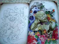 Wholesale Koi Sketch Tattoo - Wholesale-Skull Hannya Flower Dragon Koi Traditional character Tattoo Flash Sketch book