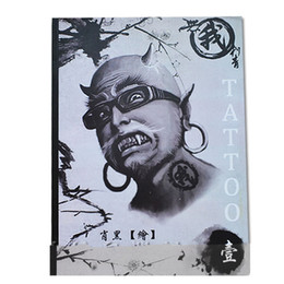 Wholesale A4 Art Book - Wholesale-100 Pages A4 Mixed Skull Devil Design Tattoo Art Book Flash Sketch Supplies