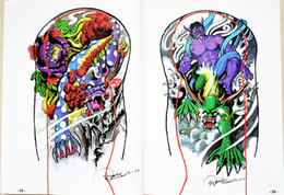 Wholesale Tattoo Flash Pages - Wholesale-100 Pages A4 Mixed Skull Devil Design Tattoo Art Book Flash Sketch Supplies