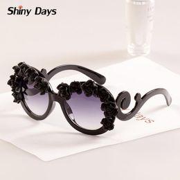Wholesale Sunglasses Flowers - Wholesale-Super nice hand made flower big round frame sunglasses Vintage retro sun glasses 2015 new fashion sun glasses oculos de sol F1