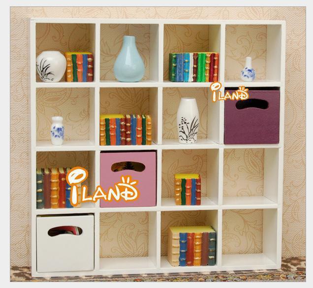 mini doll house furniture. wholesaledoll house mini dollhouse furniture model white 16 shelf bookshelf brief doll l