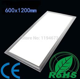Precios de iluminación de oficina online-El precio al por mayor 78W calienta la luz del techo 600x1200mm del panel del blanco LED fresco caliente para la lámpara del foco de la oficina de cocina, AC85 ~ 265V