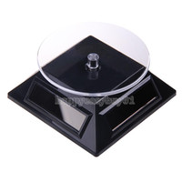 Gros-Mini 4 panneaux solaires Powered Turn Table rotative stand Bijoux Montre Mobile Display Rotary Stand Black BHU2