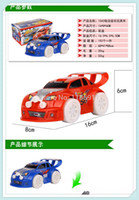Wholesale Electric Stun - Wholesale-50pcs mini cars toys stunning four wheel rc toy car with light music electric remote control Mini car toy cars for kids