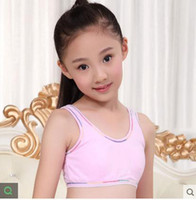 Wholesale Students Cotton Bra - Wholesale-Girls bra for kids puberty cotton without rims Girl's bra vest Middle school students' underwear kids bra for girl