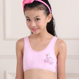 Wholesale Tank Tops For Girls Kids - Wholesale-2015 young girls bra cotton bras for kids teenagers underwear trainning sports bras for 8-15years bra 70a 75a 80a 85a camisole