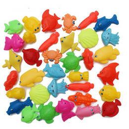 Wholesale Marine Toys For Children - Wholesale-Double-sided three-dimensional floating marine biological magnetic bulk fishing park for children toys wholesale free shipping