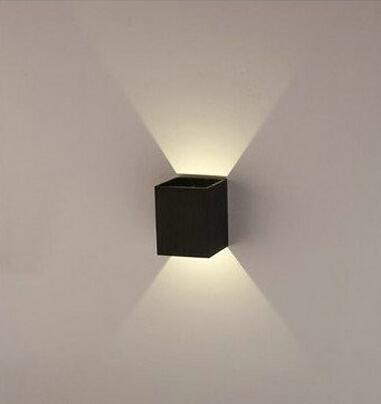Wholesale-3W Wall LED Modern Assorted Light Colorslights 85-265V aluminum black /silver/gold wall lamp ROHS/CE H-990