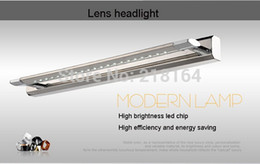 Wholesale led vanity light bathroom - Wholesale-NEW 9w bathroom Spiegelleuchte lumiere de mirror banheiro luz do espelho vanity Restroom LED mirror light 85-265V Cold light