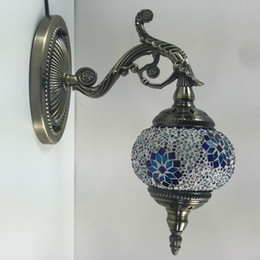 Wholesale Handicraft Wall - Wholesale-Made in China Unique decorative Turkish Handicraft Wall Sconces Mosaic Lamps Free Shipping IN STORE