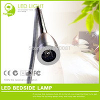Wholesale Headboard Lights - Wholesale-Free Shipping LED Bedside Reading Lamp 1W 220V Aluminum Bedhead Sleep Light led headboard reading light