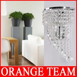 Wholesale K9 Crystal Wall Sconce - Wholesale-Modern Bedroom K9 Crystal Wall Lights Fashion Wall Sconce Hallway Lights E14 LED Crystal Wall Lamp lustres de cristal Lightings