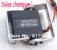 Wholesale Gear Servo Wholesale - Wholesale-Free shipping 5X Original factory Robot servo RDS3115 Metal gear digital servo Robot servo arduino servo for Robotic DIY 15kg cm