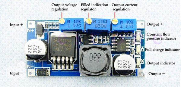 Al por mayor-1pcs de alta calidad reducen el módulo de fuente de alimentación ajustable CC-CV LED DC-DC LM2596 conductor al por mayor