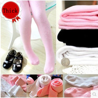 Wholesale Tights For Sale Wholesale - Wholesale-top sale 2015 winter meias princess solid Thick cotton Children tights for dancing high quality Terry lace pantyhose and girl