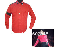Wholesale Cte Shirt - Wholesale-MJ Michael Jackson Red CTE Shirt for performance in all size