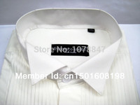 Wholesale Dovetail Shirts - Wholesale-FREE shipping Dinner men's shirts male married the groom dovetail formal dress shirt