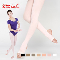 Wholesale Leggings Stirrups - 2015 Wholesale-Dttrol New arrival Free Shipping children's Stirrup Dance Ballet tights with waist and crotch (D004822)