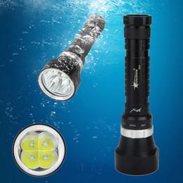Wholesale underwater torch - Wholesale-SolarStorm 6000 Lumen Scuba Diving 4x CREE XML T6 LED Underwater  Torch Waterproof Light