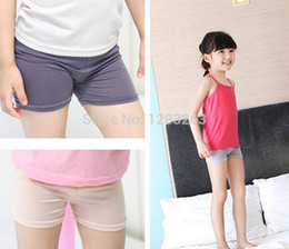Discount tight girls legs - Wholesale-5pcs Wholesales child 2015 elastic safety Kids girls pants legging pants short trousers for children 2-7 years
