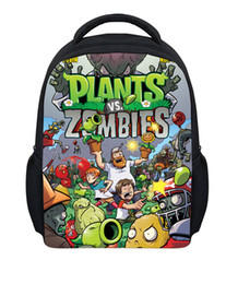 Wholesale Cartoon Games For Girls - Wholesale-Hot Children's Game Plants VS Zombies School Backpacks for Boys and Girls Gifts New Fashion Kids Cartoon PVZ Bag Free Shipping