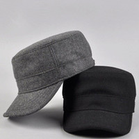 Wholesale Cadet Hats Wholesalers - Wholesale-New 2015 winter cap winter hats for man, women New arrival wool fashion military hat cadet cap male casual cap bucket hat