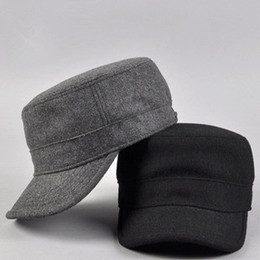 Wholesale Cadet Hats Wholesalers - Wholesale-New 2015 winter cap winter hats for man, women New arrival wool fashion military hat cadet cap male casual cap bucket hat