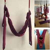 Wholesale-Dekompression Hammock Inversion Trapeze Anti-Gravity Aerial Yoga Gym Fitness-Schwingen-Sling Hanging Lila