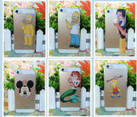 Wholesale Simpsons Iphone Cases - Wholesale-Ultrathin Hard Cover For Iphone 5s 5 Case The Homer Simpson Simpsons Gasp Logo Transparent Clear Capa For Iphone Case