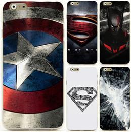 "Wholesale Superman Logo Iphone Case - Wholesale-Hot Sale Captain America Superman Super Man Logo mobile cell phone case for apple iphone 6 4.7"" 5.5"" plus"