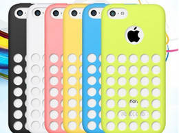 Wholesale Iphone 5c Silicon Dots - Wholesale-Matte Soft Silicon Rubber Anti-skidding Case Dots Hole Design Back Cover For iPhone 5C iphone5C Gel Skin Pouch Phone case