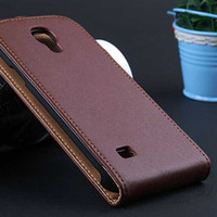 Wholesale Korea Flip Phone Case - Wholesale-New Retro Luxury Vintage Real Genuine Leather Case for Samsung Galaxy S4 Mini I9190 Korea Flip Mobile Phone Bag Cover RCD03474