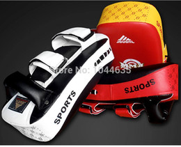 Wholesale Muay Thai Pads - Wholesale-Thicken arc-shaped camber Foot Target Muay Thai target Fight sanda boxing feet target kick target Muay Thai Boxing Kick Pads