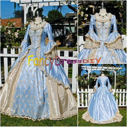 Wholesale Blue Belle - Wholesale-Freeshipping! On sale 19 century Victorian Gothic Lolita Civil War Southern Belle Ball Halloween RENAISSANCE dresses V097